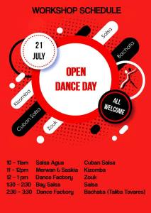 BaySalsa open day schedule 21Jul18